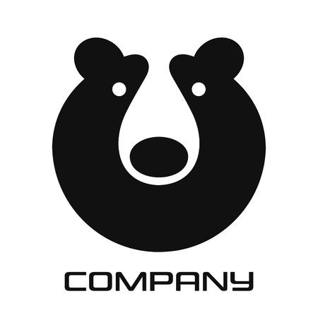 Modern Bear Head Grizzly Logo Standard-Bild - 119848349