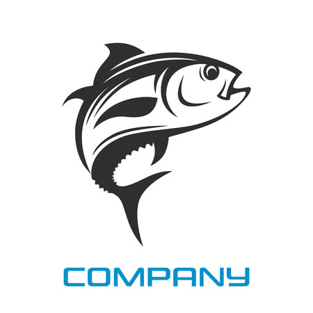Modern Logo tuna fishing Standard-Bild - 119848357