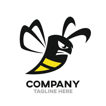 Angry bee logo Logo