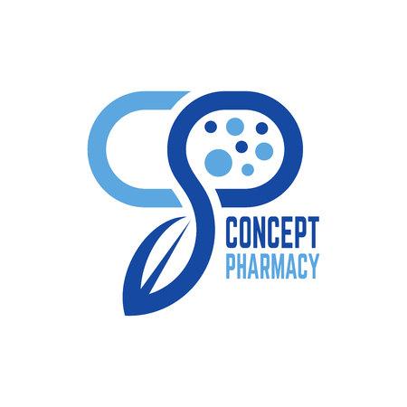 Modern concept pharmacy logo
