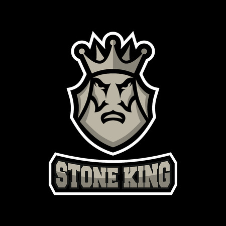Stone king logo Illustration