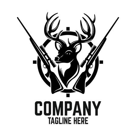 Logo del cervo da caccia Logo
