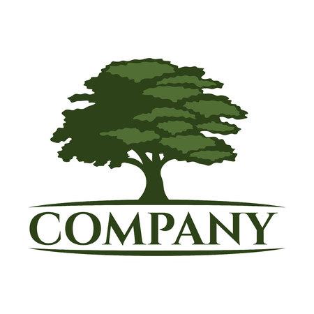 Modern tree logo Illusztráció