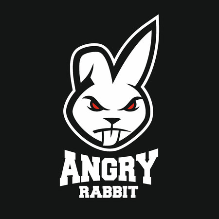 Maskotka zły królik logo