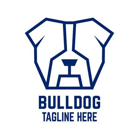 Modern dog bulldog logo