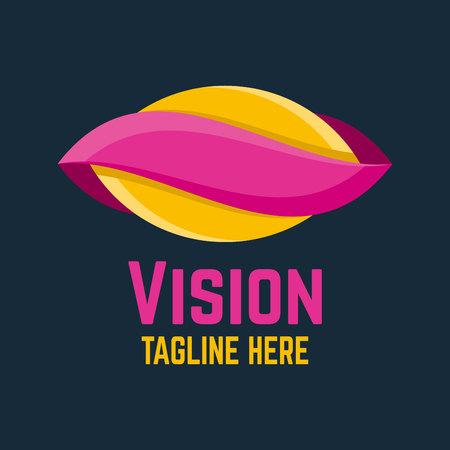 Modern vision logo Ilustracja