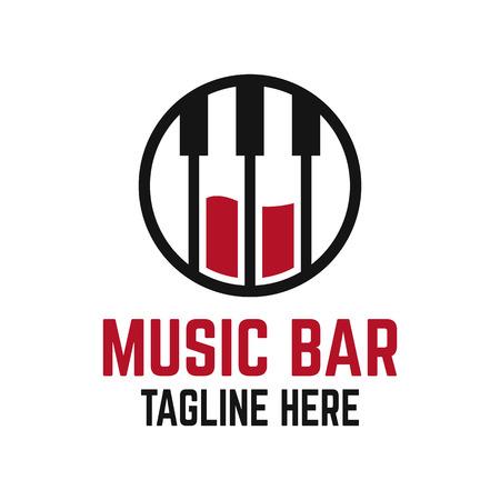 Modern music bar logo Ilustracja