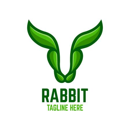 Modern rabbit logo 向量圖像