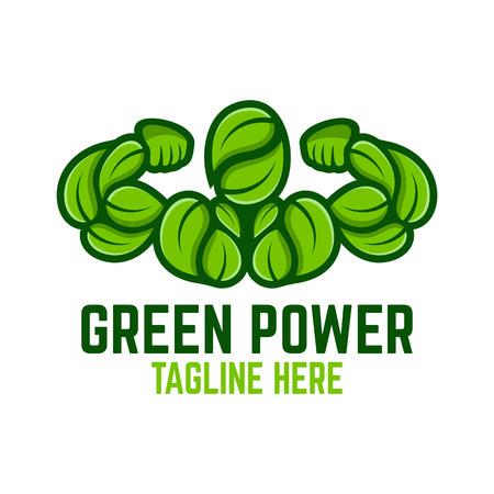 Modern green power logo