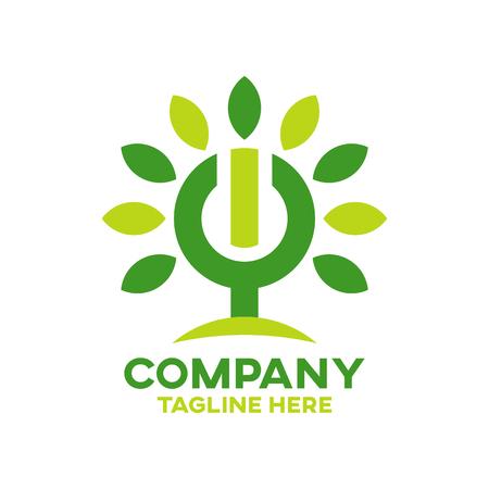 Modern Energy Tree logo Ilustracja