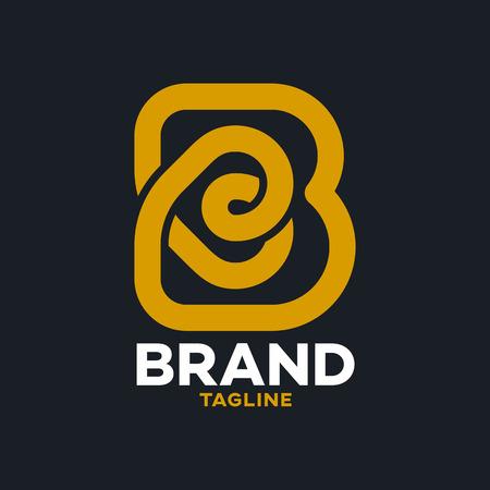 Modern bakery and letter B logo Standard-Bild - 125409782
