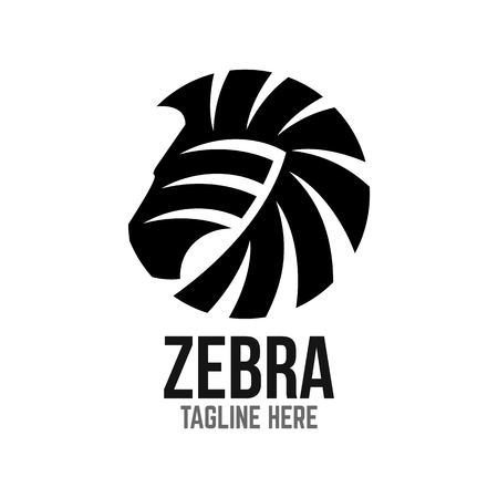 Example of modern logo zebra head 스톡 콘텐츠 - 125409784
