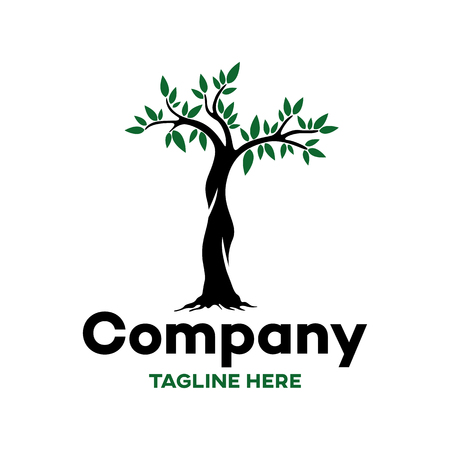 Modern logo of the tree and nature Ilustracja