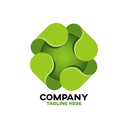 Modern green cross logo