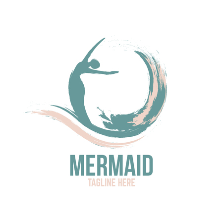 An example of an abstract mermaid logo