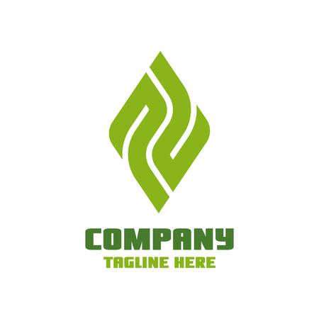 Modern leaf and letter P logo Standard-Bild - 125409123