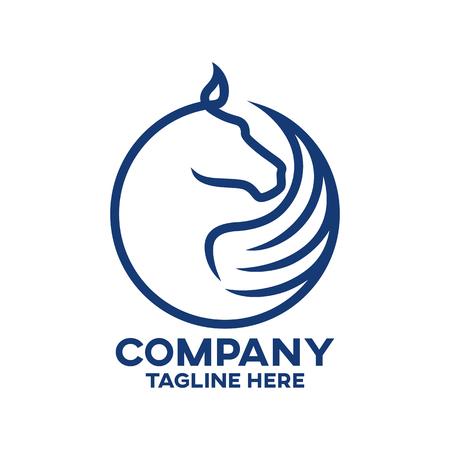 Modern horse pegasus logo Ilustracja