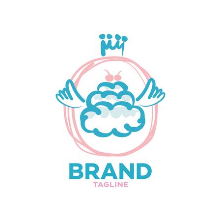 Modern sky cake logo Ilustracja