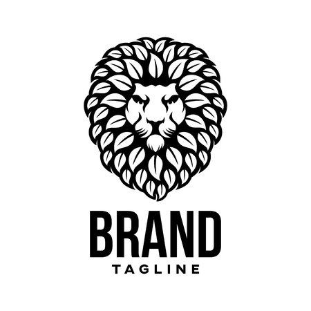 Modern natural lion logo Standard-Bild - 124644330