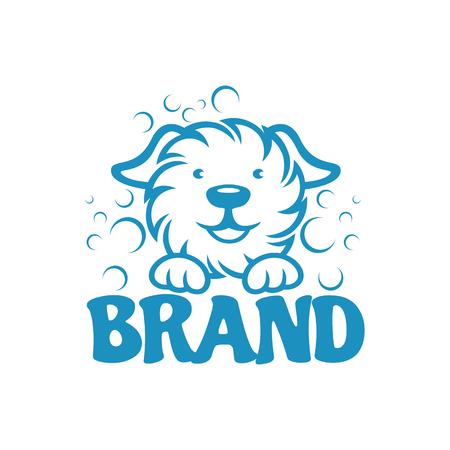Modern dog and pet washing logo Standard-Bild - 124644332
