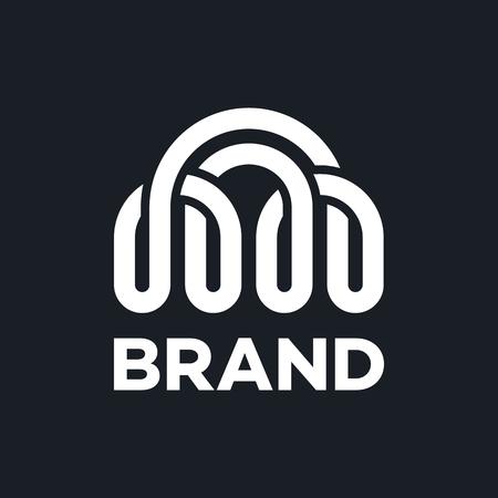 Modern bridge and communication logo Standard-Bild - 124644346