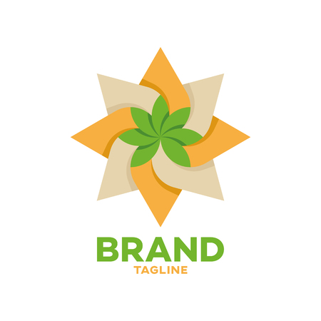 Modern cannabis and oil logo Standard-Bild - 125409127