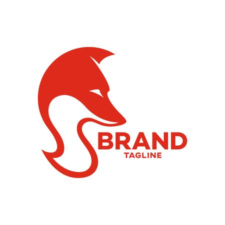 Modern fox and letter S logo