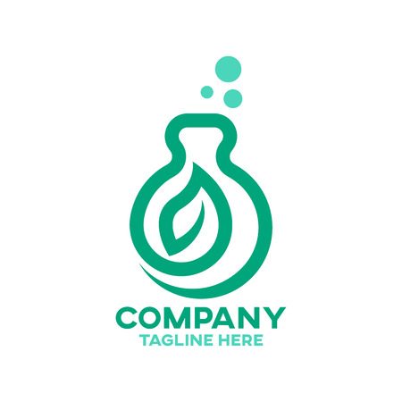 Modern Natural Pharmacy Logo Ilustracja