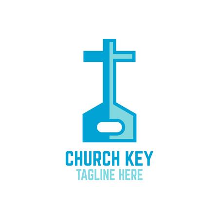 Modern key and church logo