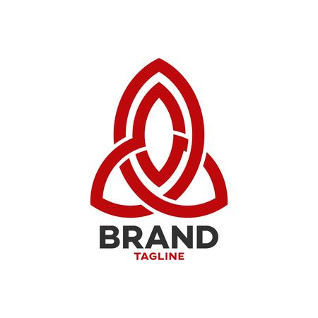 Modern solid line rocket logo Standard-Bild - 125409136