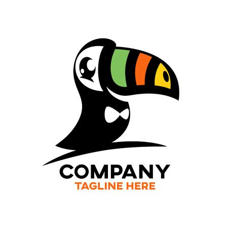 Modern Bird Toucan Logo Ilustracja