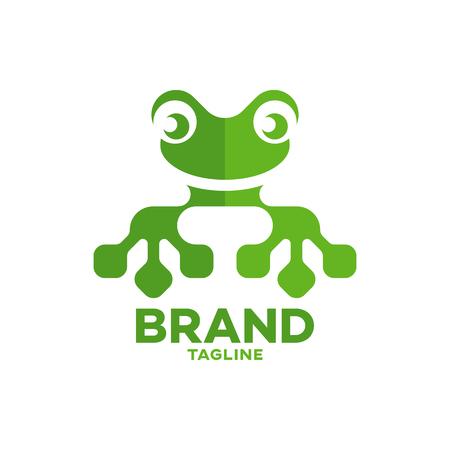 Modern frog and technology logo Standard-Bild - 125409016