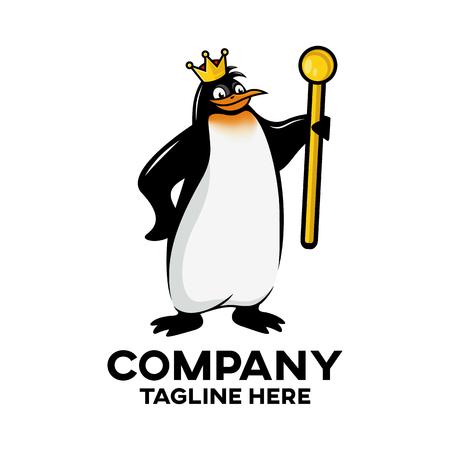 Modern royal penguin mascot logo Standard-Bild - 125409017