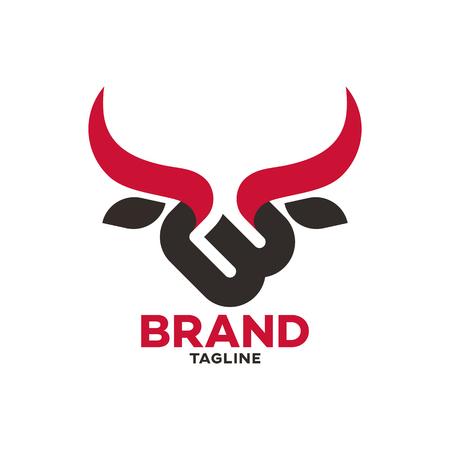 Modern bull and letter B logo Standard-Bild - 125409032