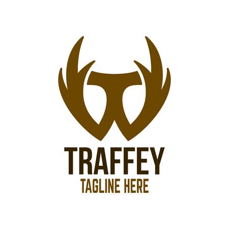 Modern trophy and letter T logo Standard-Bild - 125409039