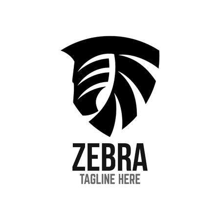 Example of modern logo zebra head Standard-Bild - 125409056