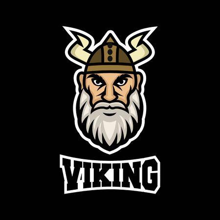 Modern mascot viking logo. Vector illustration. Ilustração