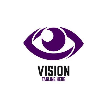Modern vision logo. Vector illustration. Ilustração