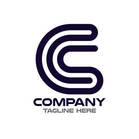 Modern letters SC and CS logo