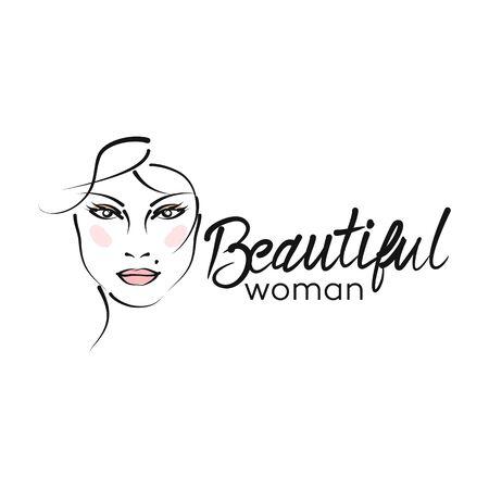 Modern beautiful woman logo Archivio Fotografico - 132542865