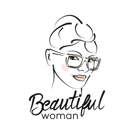 Modern beautiful woman logo