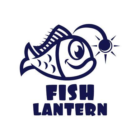 Modern fish lantern logo