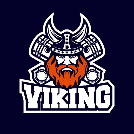 Modern Viking and diesel logo