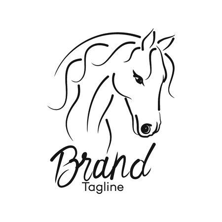 Modern horse logo. Vector illustration.