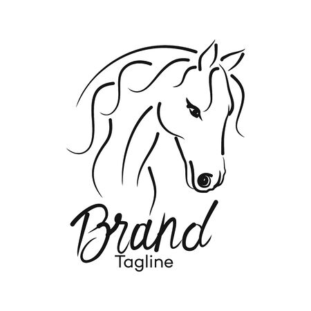 Modern horse logo. Vector illustration.