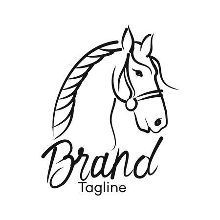 Logo de cheval moderne. Illustration vectorielle. Logo