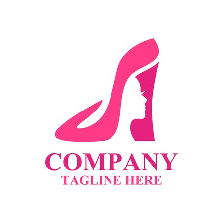 Modern shoes and beauty logo.Vector illustration.