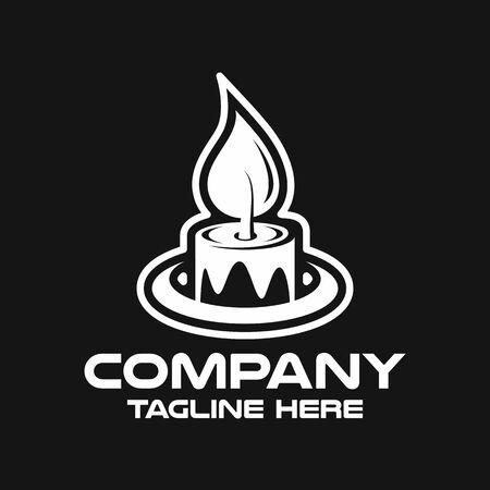 Modern candle logo. Vector illustration. Ilustracja