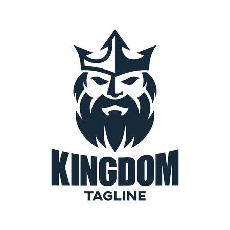 Modern king and kingdom logo design. Vettoriali