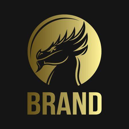 Modern majestic dragon logo